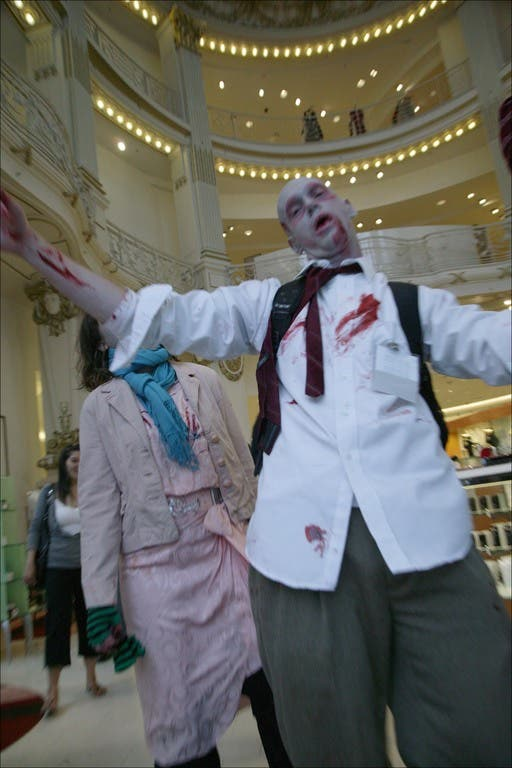 003 flash mob 90 Un flash mob de zombies San Francisco, attention ils mordent !
