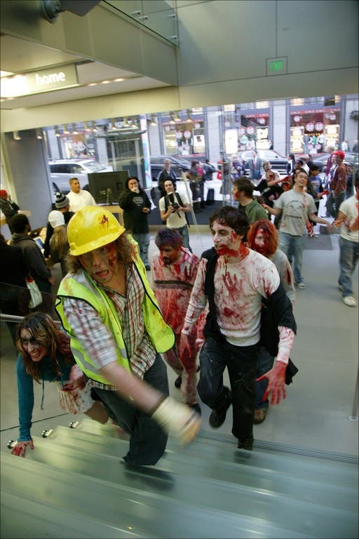 016 flash mob 110 Un flash mob de zombies San Francisco, attention ils mordent !
