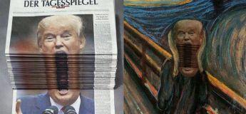 La photo de Donald Trump criant à la Une d'un journal a entrainé un concours de retouche sur Photoshop !