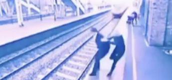 Choc : Cette femme sauve un homme qui voulait se jeter sous ce train