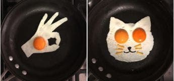 Michele Baldini, transforme ses œufs au plat en de remarquables œuvres d'art