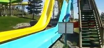 Compilation des chutes en toboggan aquatique