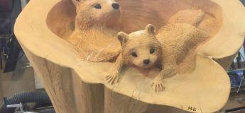 De fabuleuses sculptures d'animaux 3D à partir de troncs d'arbres