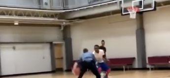 La violence de ce policier sur un terrain de basket face à cet afro-américain est terrible