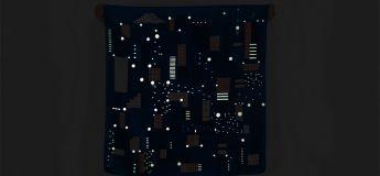 Une écharpe à la texture étonnante qui brille dans le noir