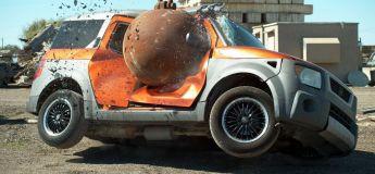 Une boule de démolition de 4 tonnes détruit tout ce qui bouge (et au super ralenti)