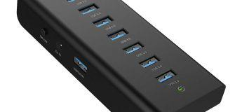Réduction de plus de 30 % sur le Hub USB 3.0 7 ports Aukey facile à utiliser et ultra-performant