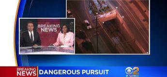La course poursuite d'un pickup volé se termine dans un arrêt de métro de Los Angeles