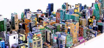 Une maquette à l'échelle réduite du Midtown Manhattan