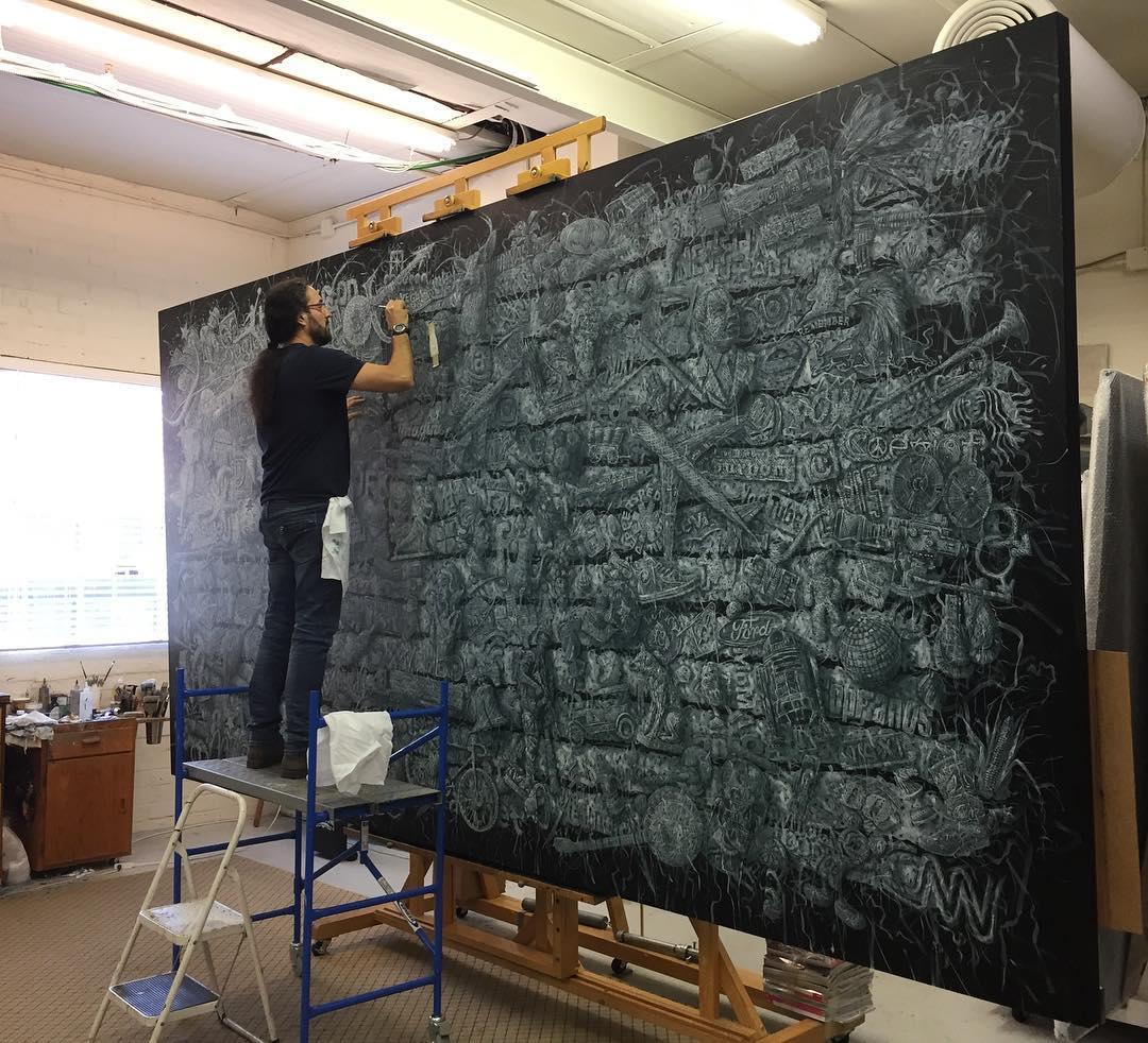 Les magnifiques peintures tissées d'un artiste cubain