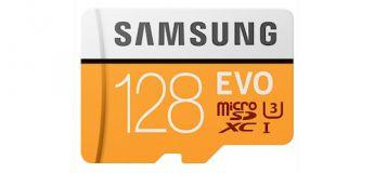 Samsung Evo Ultra SDXC UHS-3, une carte mémoire rapide 128 Go à – de 50 €