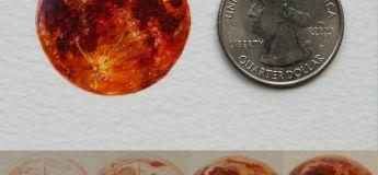 Les superbes peintures miniatures à l'aquarelle d'une artiste peintre