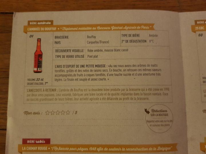 totes les infos d'experts sur les biers du coffret Une petite mousse