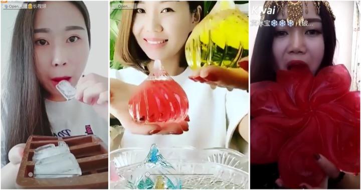 Ces Chinoises se filment en train de manger des glaçons