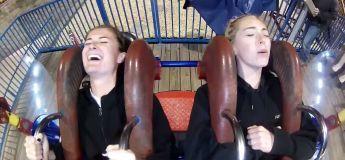 La réaction EPIQUE de ces deux jeunes femmes sur ce Slingshot