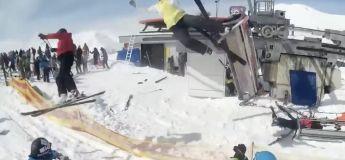 Autre angle de l'accident de télésiège qui révèle l'incroyable violence de la scène