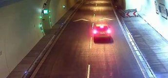 Un conducteur fait demi-tour en plein tunnel en Slovaquie (et continue en contre sens !)