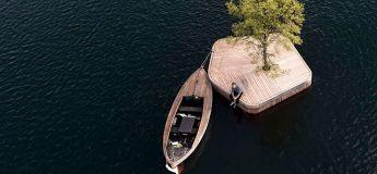Une île flottante dans le cadre d'un nouvel aménagement portuaire à Copenhague