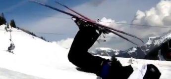 Une vue étonnante pour ce saut à ski hyper cool