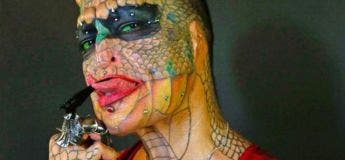 Une transsexuelle dépense des millions d'euros pour devenir une femme-dragon