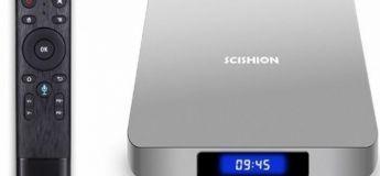 Pré-vente : la BOX TV SCISHION AI ONE (Android 8.1, commande vocale) à – de 75 €