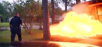 Explosion d'une maison au Texas, la boule de feu capturée en vidéo par la dashcam