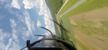Ce vol en rase-motte dangereusement bas réalisé par ce pilote inconnu