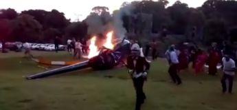 Un hélicoptère se crashe en pleine cérémonie de mariage