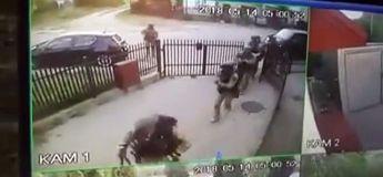Police polonaise vs Porte d'un criminel : un travail de roumains !