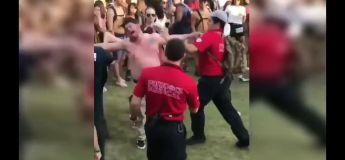 Sous un peu trop d'acides en festival, cet homme devient ingérable et dangereux