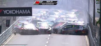 Dans la course WTC au Portugal aujourd'hui, toutes les voitures se sont percutées au premier tour de la course