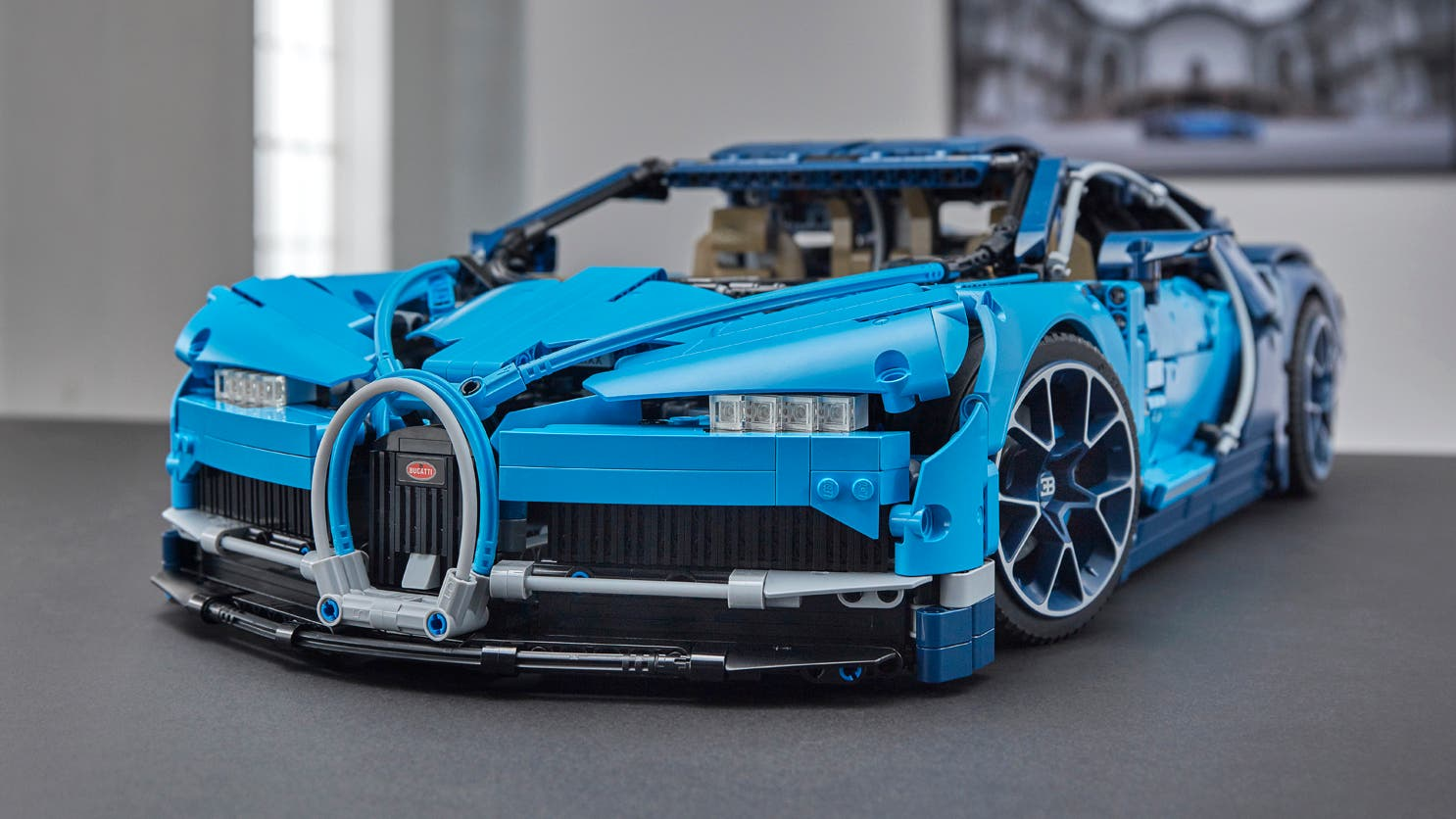 le kit bugatti chiron lego technic 2018 incroyablement d taill. Black Bedroom Furniture Sets. Home Design Ideas