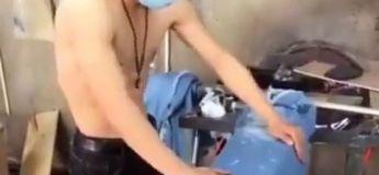 Comment est fait un jean brut, délavé, déchiré… (vidéo)