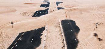 Quand le désert envahi Dubaï et Abu Dhabi, les photos sont magnifiques