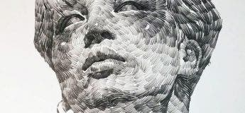 Des portraits au fusain d'un talentueux dessinateur qui joue magnifiquement avec les ombres
