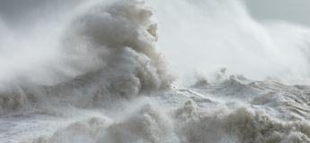 Des créatures mythologiques capturées en photo dans les vagues d'une mer tumultueuse