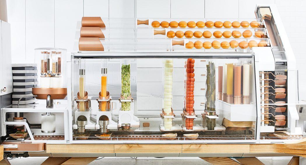 Le robot creator qui cuisine enti rement un burger est - Robot qui fait la cuisine ...