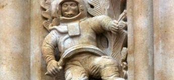 Mythe : Un astronaute est gravé sur un mur de la cathédrale de Salamanque (Espagne)