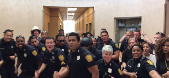 La vidéo sympa de policiers chantant « Uptown Funk » en playback dans leur commissariat