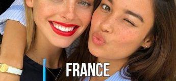 Une ribambelle de jolies filles internationales avec des adages particuliers