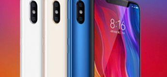 Le Xiaomi Mi 8 à 404,20€ (6 Go de RAM et 128 Go)