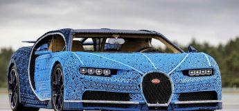 Une Bugatti Chiron recréée en LEGO qui roule à 30 km/h (vidéo)