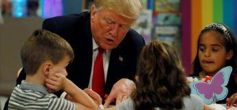 Donald Trump se trompe et colorie mal le drapeau américain