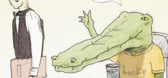 Un artiste illustre de façon hilarante les problèmes d'être un crocodile