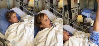 Un père fait une blague à sa fille (shootée) qui a été «opérée du mauvais pied»