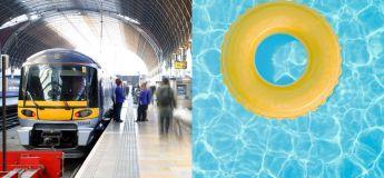 Une gare suédoise inondée après une forte tempête se transforme en piscine de fortune