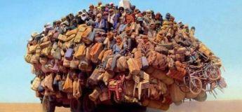 Quand l'Homme transporte l'intransportable, la force humaine (photos)