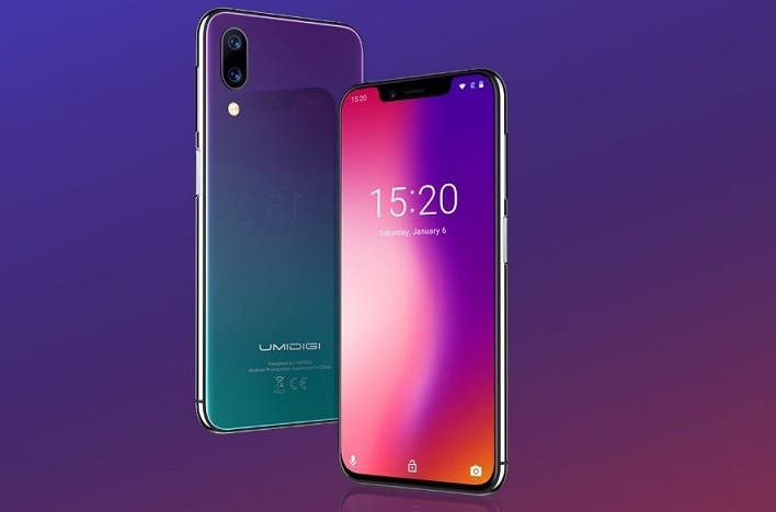 The brand new Umidigi One comes in 2 colors (32GB and 64GB)