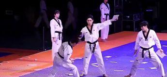 La vidéo d'une époustouflante démonstration de l'équipe de taekwondo sud-coréenne