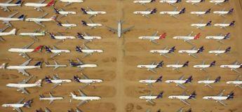 Un gigantesque cimetière de voitures et d'avions du désert californien